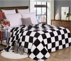 Белый цвет черный печатается фланелевая подкладка из флиса офсетного полотна
