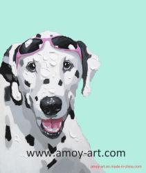 Modern Funny Dog acrílico decorativas Pintura de arte na parede sobre tela