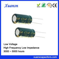 35V 470V de audio de alta frecuencia condensadores electrolíticos de grado
