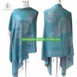 Nouveau design Fashion Pashmina châle avec Rose foulard Jacquard