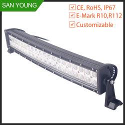 20 Polegadas Barra de luz LED curvo com interferência da Iluminação da Proteção da ECE Bar carro 4X4 Condução Fora de Estrada da Barra de luz LED Offroad