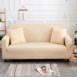 無地の完全なカバー伸縮性があるソファーの伸張の切口は及びソファーカバーを縫う