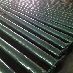강철에 의하여 이용된 태양 LED 가로등 검정 포스트 중국 사람 제조자가 10m에 의하여 직류 전기를 통했다