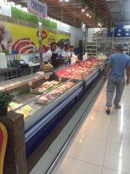 prix d'usine vitrine de Réfrigération Réfrigération d'affichage vitrine de la viande de gâteau