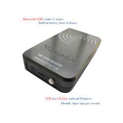 Lecteur RFID UHF écrivain Bluetooth pour Ios, Mac, Windows 50, Android, de lire les étiquettes RFID par seconde, proposer l'APP et SDK, pas de NFC.