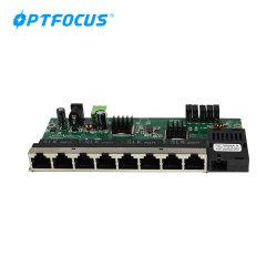 Fibre Ethernet 10/100/1000 Мбит/с 8 портами 1 Sc 20км L2 гигабитный коммутатор сети видеонаблюдения печатной платы