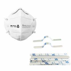 工場直接卸し売りアルミニウムストリップのマスクのための3mの接着剤の鼻橋棒が付いている調節可能な鼻ワイヤー、N95マスクの作成のための金属の鼻クリップ橋ワイヤー