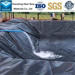 0.5مم/0.75 مم/1.0 مم/1.5 مم/2.0 مم ASTM غير نفاذة للريمون المقاوم للمياه HDPE للسد/طمر النفايات/البحيرة/بيوغاس/التعدين/الأسماك/بركة مزرعة الجمبري سعر الشركة المصنعة للبطانة