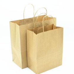 Sacchetti di carta marrone con manici sfusi, sacchetti di carta regalo Bagmad, festa di compleanno Kraft favori alimentari Retail Takeouts Business
