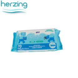 OEM нетканого материала ткань бесплатный алкоголь Пэт ванной ухо чистящие салфетки