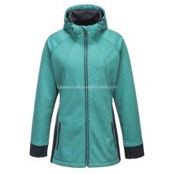 As mulheres que deixam respirar Zipper-up jaqueta de velo de malha externa