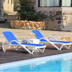 따뜻한 세일 수영장 해변 의자 플라스틱 일광욕 의자 핸드레일(ES1812257)