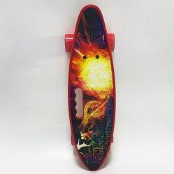 لوح تزلج صغير كامل 22 بوصة لوح تزلج بلاستيكي شارع بأربع عجلات لون المصنع الأصلي للمعدة (OEM) طويل اللوحة