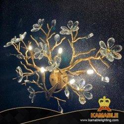 فندق زهرة زخرفيّة فاخر بلّوريّة ذهبيّة [لد] [ولّ لمب] ([كمد1822-3])