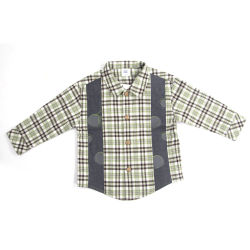 Los niños Camiseta Plaid Primavera y Otoño Mangas Largas de algodón Camiseta Camiseta de moda Plaid