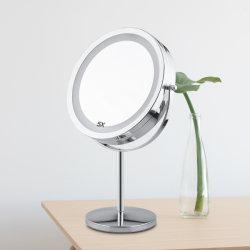 Specchio cosmetico di trucco della Tabella LED di ingrandimento della mobilia