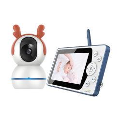1080P de 5 pulgadas WiFi en casa HD Smart Audio Seguridad CCTV interiores Babe Baby Monitor de vídeo de la temperatura Babyfoon inalámbrica con la cámara