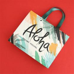Comercio al por mayor bolsas de cosméticos de la Junta de marfil regalo bolsa de papel kraft para Cosmética embalaje