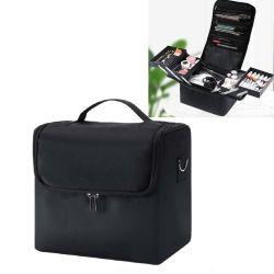 Couleur Noir multicouche Large-Capacity Sac cosmétique portable professionnel de la Boîte à Outils de maquillage des ongles
