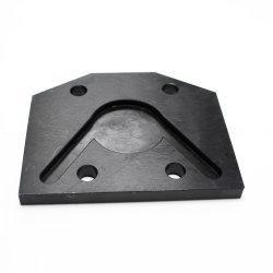 Soem-CNC maschinell bearbeitete freier Ausschnitt schwarze Oxiding Zurückziehenstahlplatte