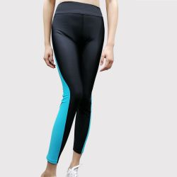 """Roupas de mulheres nadar Pants UPF 50+ Alto Estrangulados Sportswear Swimsuit Perneiras 9"""" Calças de Natação"""