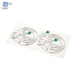 Aangepast Silver Pet/PVC-ontwerp met sterke 3 m kleefstoker 3D Zachte badge