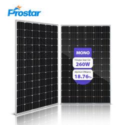 260W Monosolarbaugruppe260 Wp-monokristalline Silikon-Solarzellen-Baugruppe