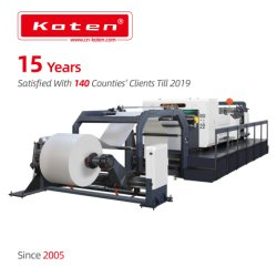 Rodillo de alta velocidad a la máquina de láminas de hojas de papel, máquina de corte transversal de papel giratorio