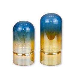Teintes de bleu LED de style moderne chandeliers en verre, mettre en place pour les cadeaux de mariage, fête, Accueil, SPA, reiki, aromathérapie, les détenteurs de bougie votive jardins