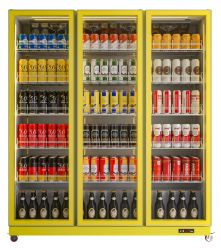بضائع من السوبر ماركت مروحة الباب الزجاجي مروحة التبريد شاشة تبريد المبرد المشروبات مبرد