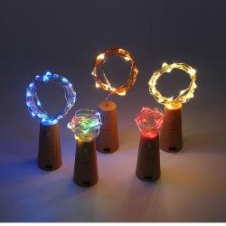Bouteille de vin de mariage Linli Décoration Chaîne de fil de cuivre de lumière à LED