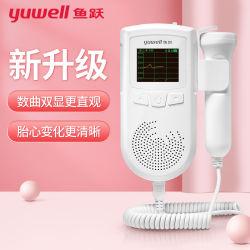 Ad51B Moniteur de fréquence cardiaque foetale Doppler, Medical ménage les femmes enceintes l'écoute de la fréquence cardiaque foetale, moniteur de rythme cardiaque foetal, moniteur de fréquence cardiaque foetale