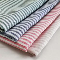 Banda de alta calidad hilado teñido de tejido de lino puro L17*17 Camiseta Plaid Bolsa de tela
