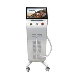 CE FDA 승인 제조업체 755 808 1064nm 다이오드 레이저 영구 소프라노가 있는 헤어 제거 기계