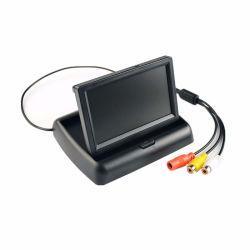 4.3-inch HD inklapbare achtermonitor voor in de auto met omkeerbaar LCD-scherm TFT-scherm met nachtzicht achteruitrijcamera voor voertuigen