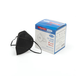 Hite Lista de la salud de la fábrica OEM de protección desechables de diseño personalizado FFP2 Mascarilla de color negro respirador KN95