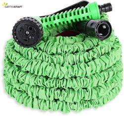 خرطوم حديقة قابل للتوسيع من Gartenkrak Polyester Green مع مسدس مرشة
