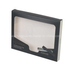 Hoes voor papieren doos met plastic venster, doos met kartonpapier en venster, doos met hoes