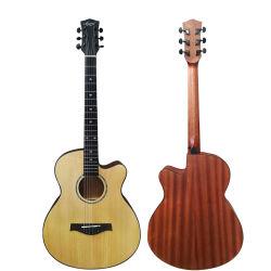 Haut de la marque Aiersi solide à la main professionnel pour la vente de guitare acoustique