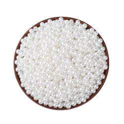 Commerci all'ingrosso della fabbrica di Ktg branelli rotondi della perla dell'ABS di plastica allentato bianco di 18mm - di 2mm per le decorazioni dei monili