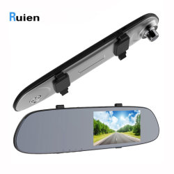 5-inch 1080p HD TFT LCD-spiegel met dubbele camera DVR voor in de auto