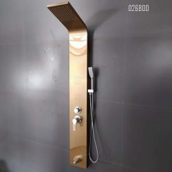 Novo painel de duche de liga de alumínio com Chuveiro torneira