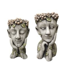 Les semoirs succulentes créatif Vase tête humaine PLANTE EN FIBRE DE VERRE Pot de fleurs