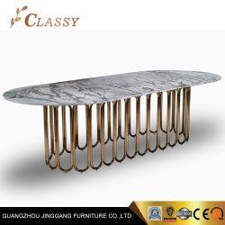 Роскошный зал Мебели мраморный обеденный стол,