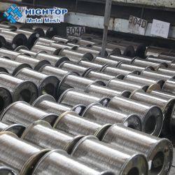 مواد ذات أسلاك مرنة من الفولاذ المقاوم للصدأ ذات قوة مقاومة شد عالية لمادة الشبكات النسج