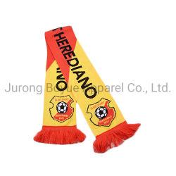 بيع بالجملة شركة OEM Eco Professional طباعة متخصصة Velvet Winter Warm Sport وشاح Football Club Fan Scarf