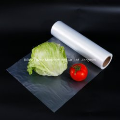 Embalagens de alimentos Saco Plana Embalagem Supermercado Saco de rolo de produtos hortícolas frescos frutos do saco plástico