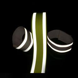 사려깊은 탄력 있는 소맷동, 높은 시정 사려깊은 안전 완장, 탄력 있는 안전 사려깊은 발 악대, 탄력 있는 Reflecttive 발목 악대
