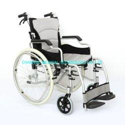 Peso ligero de aluminio de Transporte de viaje plegable silla de ruedas manual