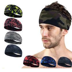 Forma fisica corrente di riciclaggio assorbente Hairband di Headwear della bici antisdrucciolevole dello Sweatband dei capelli di sport di Ciclismo del Bandana degli uomini della fascia di Lyca